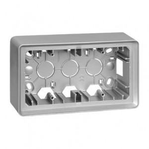 Simon 82 8200760-093 - Puszka natynkowa 2-krotna  aluminium - Brak - Podgląd zdjęcia producenta