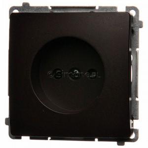 Simon Basic BMG1z.01/47 - Gniazdo pojedyncze bez bolca uziemiającego z przesłonami torów prądowych - Czekoladowy - Podgląd zdjęcia producenta