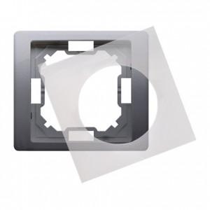 Simon Basic Neos BMRC1B/21 - Ramka pojedyncza hermetyczna Neos - Stal Inox - Podgląd zdjęcia producenta