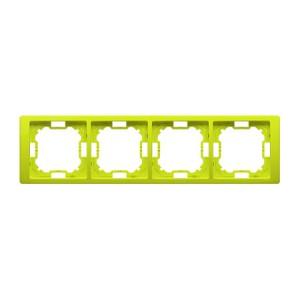 Simon Basic BMRC4/036 - Ramka poczwórna Neos - Limonkowy - Podgląd zdjęcia producenta