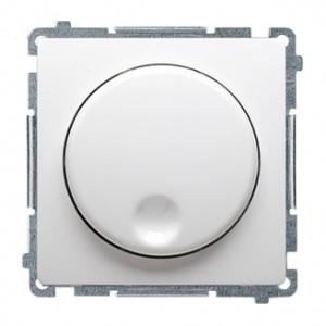 Simon Basic BMS9T.01/11 - Ściemniacz naciskowo-obrotowy 20-500W - Biały - Podgląd zdjęcia producenta