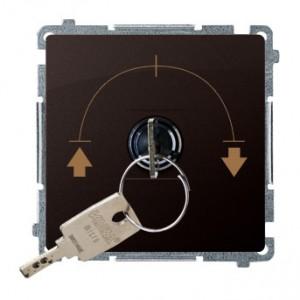 Simon Basic BMWZK.01/47 - Łącznik żaluzjowy na kluczyk 3 pozycyjny I-0-II - Czekoladowy - Podgląd zdjęcia producenta