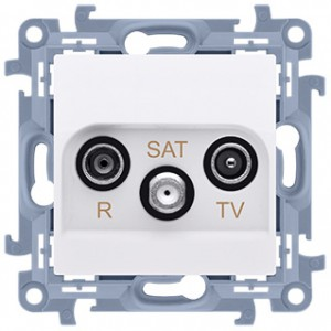 Simon 10 CASK.01/11 - Gniazdo antenowe R-TV-SAT końcowe/zakończeniowe - Biały - Podgląd zdjęcia producenta