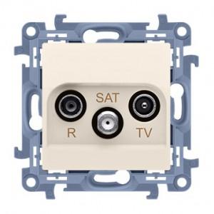 Simon 10 CASK.01/41 - Gniazdo antenowe R-TV-SAT końcowe/zakończeniowe - Kremowy - Podgląd zdjęcia producenta