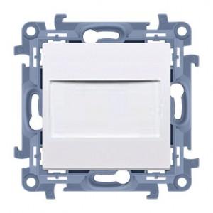Simon 10 CPS.01/11 - Zaślepka ramki z mostkiem - Biały - Podgląd zdjęcia producenta