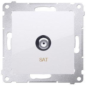 Simon 54 DASF1.01/11 - Gniazdo antenowe SAT typu F pojedyncze - Biały - Podgląd zdjęcia nr 1