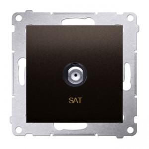Simon 54 DASF1.01/46 - Gniazdo antenowe SAT typu F pojedyncze - Brąz Mat - Podgląd zdjęcia producenta