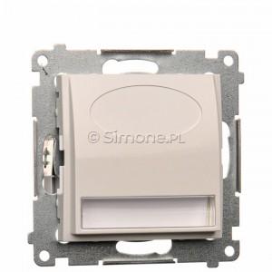 Simon 54 DOS.01/11 - Oprawa oświetleniowa LED 230V (1,1W), Barwa światła: Biały ciepły 3100K. - Biały - Podgląd zdjęcia producenta
