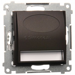 Simon 54 DOS.01/46 - Oprawa oświetleniowa LED 230V (1,1W), Barwa światła: Biały ciepły 3100K. - Brąz Mat - Podgląd zdjęcia producenta