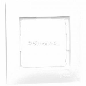 Simon 54 Premium DR1/11 - Ramka pojedyncza - Biały - Podgląd zdjęcia producenta