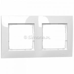 Simon 54 DR2/11 - Ramka podwójna - Biały - Podgląd zdjęcia nr 1