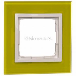 Simon 54 DRN1/90 - Ramka pojedyncza Nature Szkło - Limonkowy Sorbet - Podgląd zdjęcia nr 1
