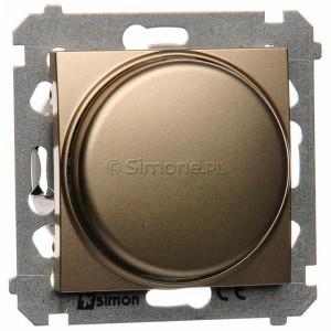 Simon 54 DS9L.01/44 - Ściemniacz obrotowy do LED ściemnialnych 230V 1-100W - Złoty Mat - Podgląd zdjęcia producenta