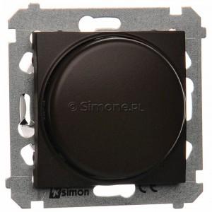 Simon 54 DS9L.01/46 - Ściemniacz naciskowo-obrotowy do LED - Brąz Mat - Podgląd zdjęcia producenta