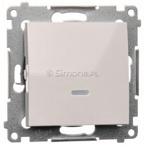 Simon 54 DW1ZL.01/11 - Łącznik pojedynczy z sygnalizacją załączenia LED 10A - Biały - Podgląd zdjęcia producenta